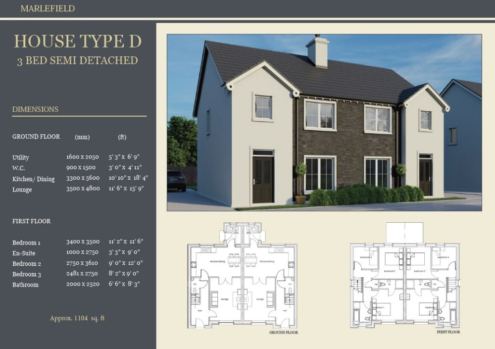SITE 12 - HOUSE TYPE D, MARLEFIELD